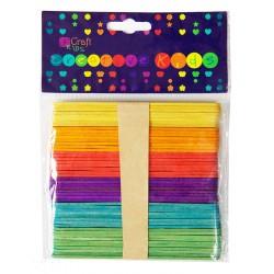 DP Craft patyczki kreatywne drewniane kolorowe 50 szt KSPA-002