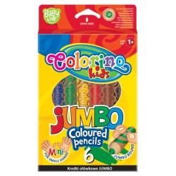"Patio ""Colorino"" kredki okrągłe Jumbo mini 6"