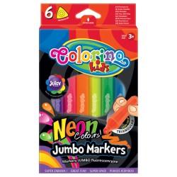 "Patio ""Colorino"" flamastry  Jumbo neonowe 6"