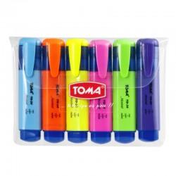 """Toma """"Mistral"""" zestaw zakreślaczy 6"""
