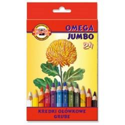 """Koh-I-Noor """"Omega Jumbo"""" kredki szkolne 24"""