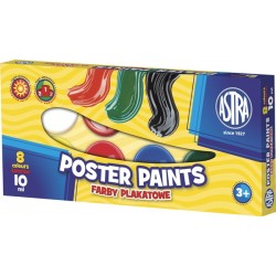 Astra farby plakatowe 8x10 ml