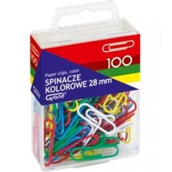 Spinacze biurowe okrągłe kolorowe 100 sztuk