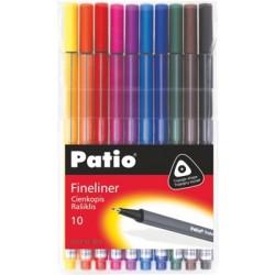 """Patio """"Trio Fineliner"""" zestaw cienkopisów 10"""
