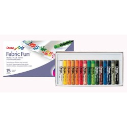 "Pentel ""Fabric Fun"" pastele do tkanin 15"