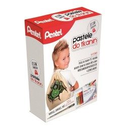 "Pentel ""Fabric Fun"" pastele do tkanin zestaw z workiem"