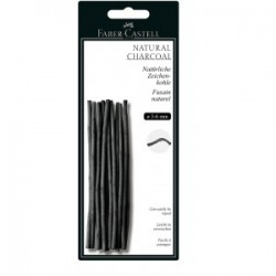 """Faber Castell """"Natural Charcoal"""" grafity węglowe 3-6 mm"""