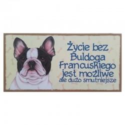 "Tabliczka z Twoim Pupilem ""Buldog Francuski"""
