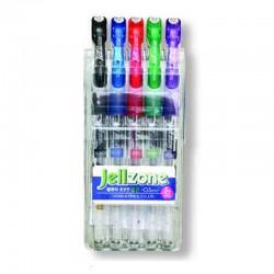 """Zestaw długopisów żelowych Dong-A """"Jell Zone"""" 5"""