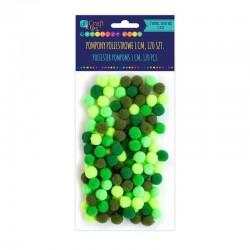 """DP Craft Pompony poliestrowe """"Mix zielony"""" KSPO-029"""