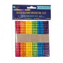 DP Craft patyczki kreatywne konstrukcyjne kolorowe 50 szt KSPA-003