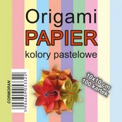 Cormoran papier do Origami 10x10 kolory pastelowe