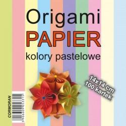 Cormoran papier do Origami 14x14 kolory pastelowe