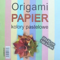 Cormoran papier do Origami 20x20 kolory pastelowe