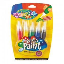 Colorino farby w tubach z pędzelkami 5