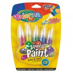 Colorino farby w tubach z pędzelkami Glitter 5