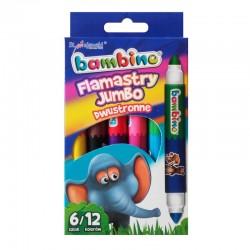 Bambino flamastry dwukolorowe Jumbo 6
