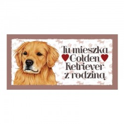 "Magnes z Twoim Pupilem ""Golden Retriever"""