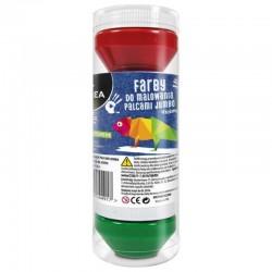 Farby do malowania palcami 4x50 ml Kidea
