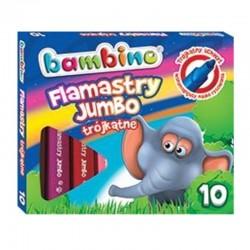 Bambino flamastry trójkątne  Jumbo 10