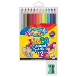 Colorino kredki okrągłe Jumbo 12