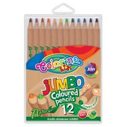 Colorino kredki okrągłe Natura Jumbo 12 PTR-38942