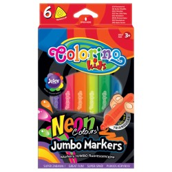 "Patio ""Colorino"" flamastry  Jumbo neonowe 6"