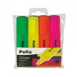 """Patio """"Glide"""" zestaw zakreślaczy 4"""