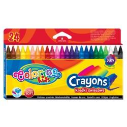Colorino kredki świecowe 24