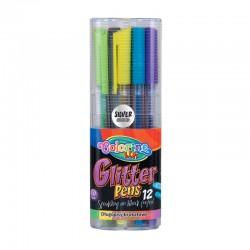 "Colorino ""Glitter"" długopisy żelowe brokatowe 12"