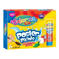 Colorino farby plakatowe w tubkach 6x30 ml