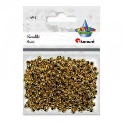 Koraliki złote Titanum 390725