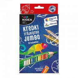 Kredki trójkątne Jumbo 12 Kidea