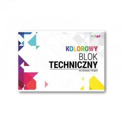 Blok techniczny kolorowy A-4/20k Strigo SPA-020