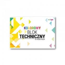 Blok techniczny kolorowy A-4/10k Strigo SPA-019