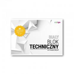 Blok techniczny biały A-4/10k Strigo SPA-018