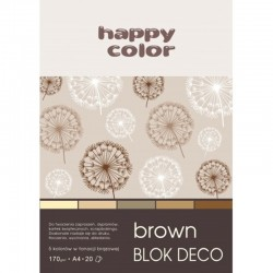 "Happy Color blok kreatywny ""Brown"" A-5"