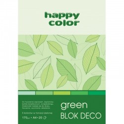 "Happy Color blok kreatywny ""Green"" A-5"