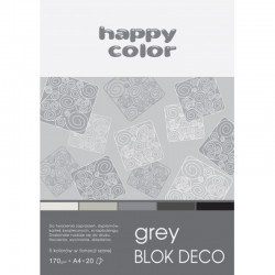 "Happy Color blok kreatywny ""Grey"" A-4"