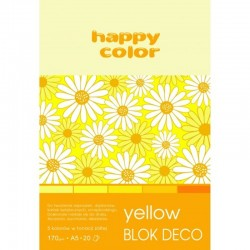 "Happy Color blok kreatywny ""Yellow"" A-5"