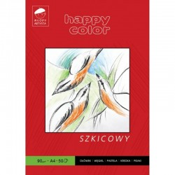 Happy Color blok szkicowy A-4