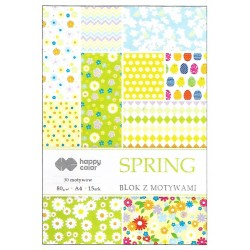 "Happy Color blok z motywam ""Spring"" A-4"