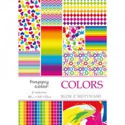 "Happy Color blok z motywam ""Colors"" A-4"