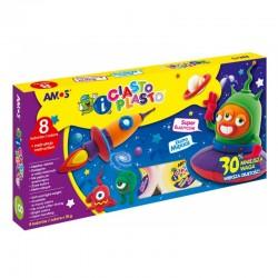 "Amos ""Ciasto-Plasto IC8P"" masa plastyczna zestaw 8x18g"