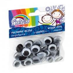 """Fiorello """"Magnetyczne oczka"""" 15mm/40 szt"""