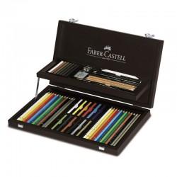 Faber Castell zestaw artystyczny w kasecie drewnianej 110088