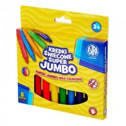"Kredki świecowe Astra ""Super Jumbo"" 8"
