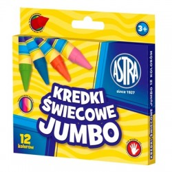 "Kredki świecowe Astra ""Jumbo"" 12"