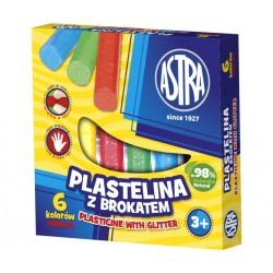 Plastelina brokatowa Astra 6