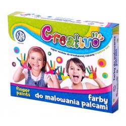 "Farby do malowania palcami Astra ""Creativo"" 4x50ml"